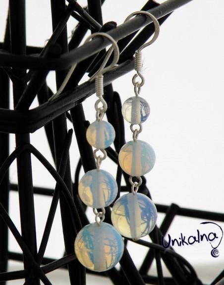 MADELINE - сребърни обици с естествени камъни
