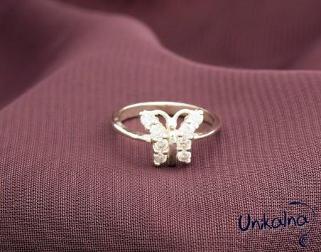 SWEET SHINY BUTTERFLY - детски сребърен пръстен
