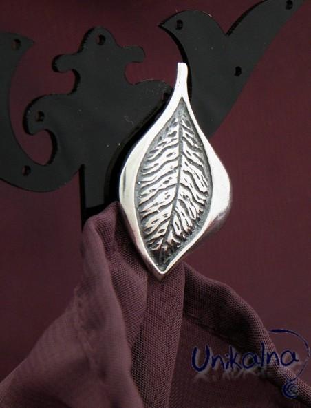 SILVER LEAF - 1 - сребърна брошка