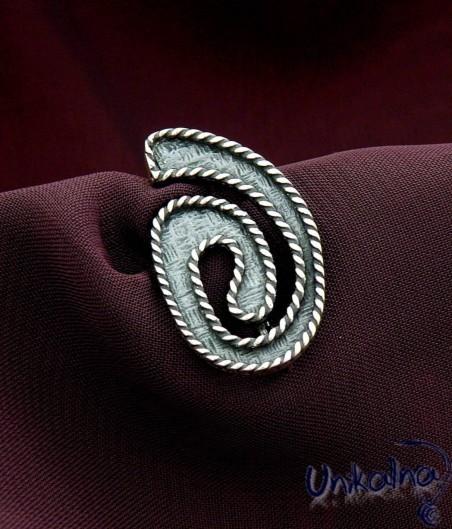 SPIRAL CURVE - сребърна брошка