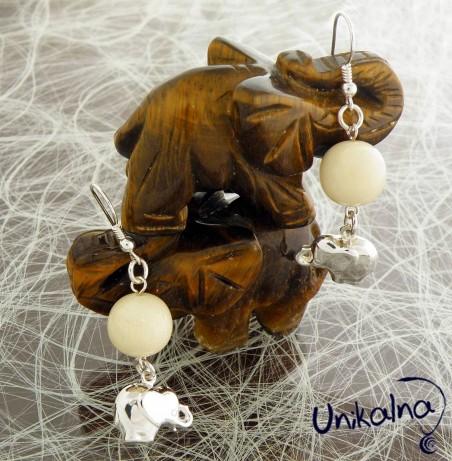 IVORY - сребърни обици с естествени камъни