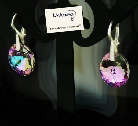 Обици с кристал Swarovski Vitrail Oval