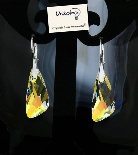 Обици с кристал  Swarovski Crystal Wing