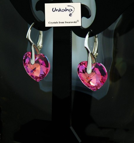 Обици с кристал Swarovski Heart Of The Rose