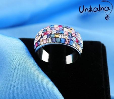 MOTLEY - сребърен пръстен с кристали Swarovski