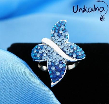 BLUE ENCHANTMENT - сребърен пръстен с кристали Swarovski