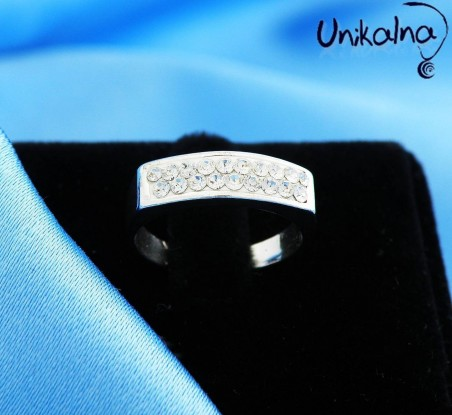 CRYSTAL CIRCLET - сребърен пръстен с кристали Swarovski
