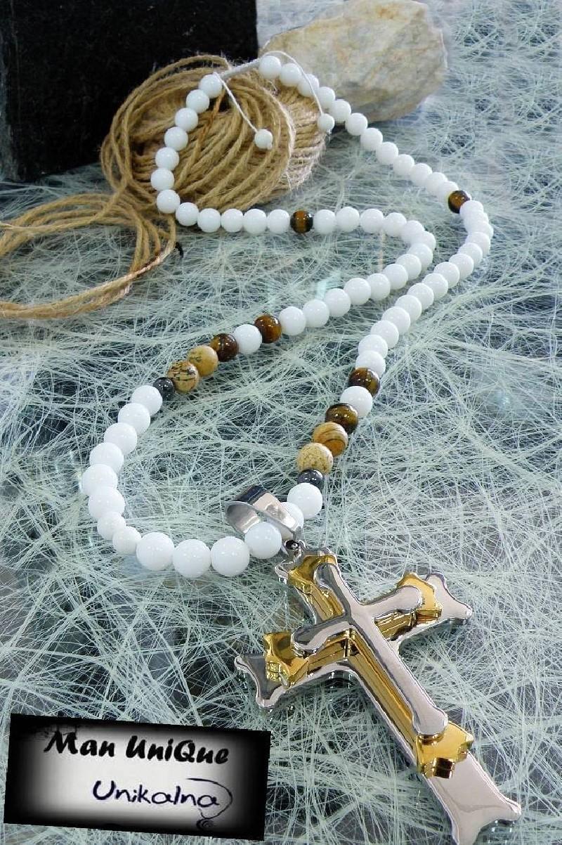 White Onyx - колие от естествени камъни