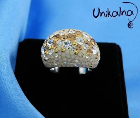 BRILLIANT TEMPTATION - сребърен пръстен с кристали Swarovski