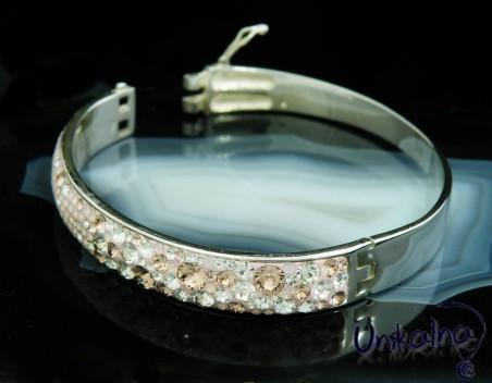 PINK MIRACLE - сребърна гривна с кристали Swarovski