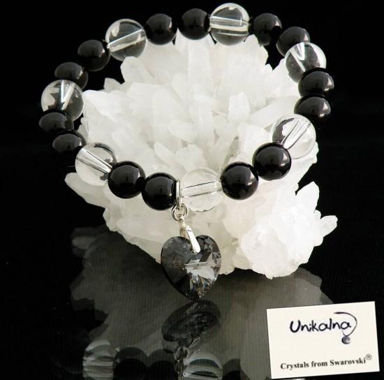 MANUELA - гривна от естествени камъни и кристал Swarovski