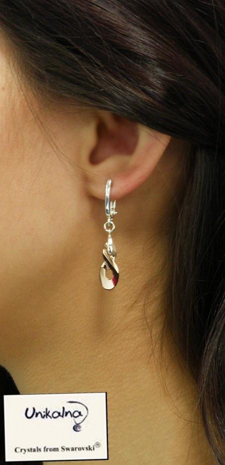 Обеци с кристали Swarovski Crystal Infinity Rose Gold