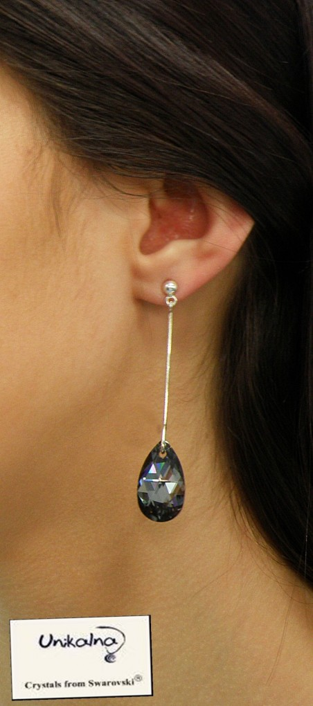 Diamond Drop - сребърни обици  кристали Swarovski