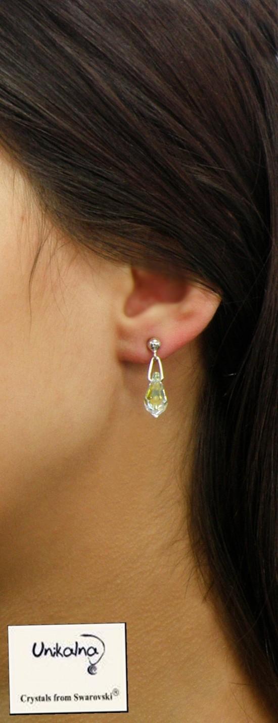 Обици с кристал Swarovski AB Diamond Mini