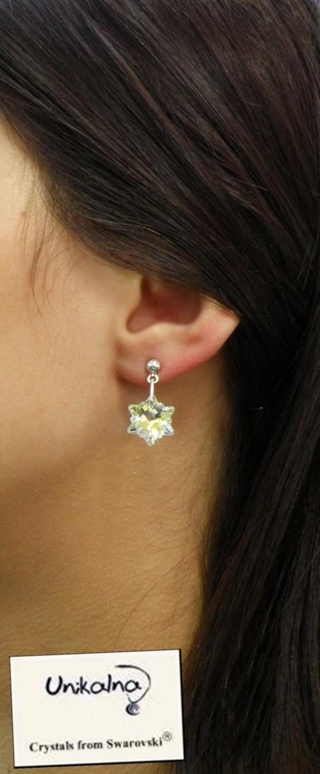 Обици с кристали Swarovski Crystal Edelweiss Mini