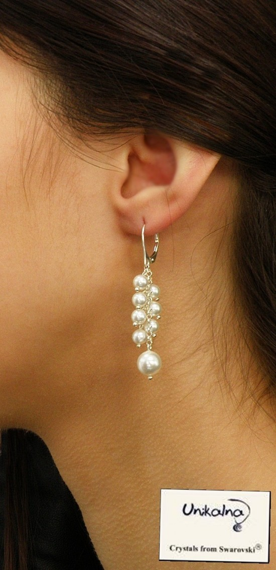 AMAZING PEARL - сребърни обици с перли Swarovski
