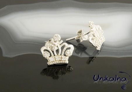Сребърни обеци Silver Crown