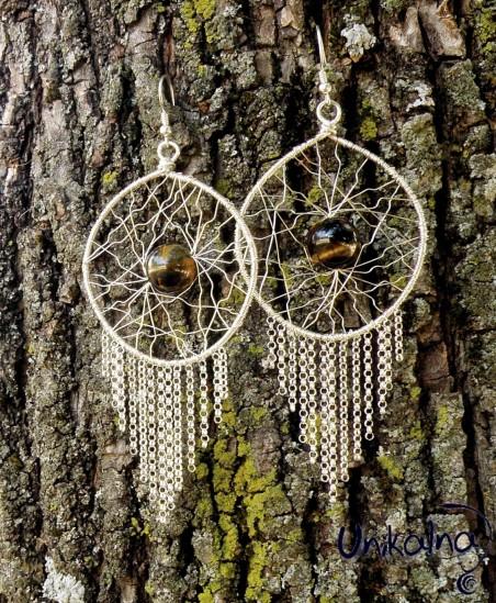 Сребърни обеци Forest Spirit