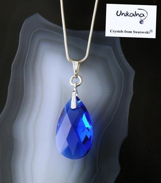Кристал Swarovski Majestic Blue Pear 22