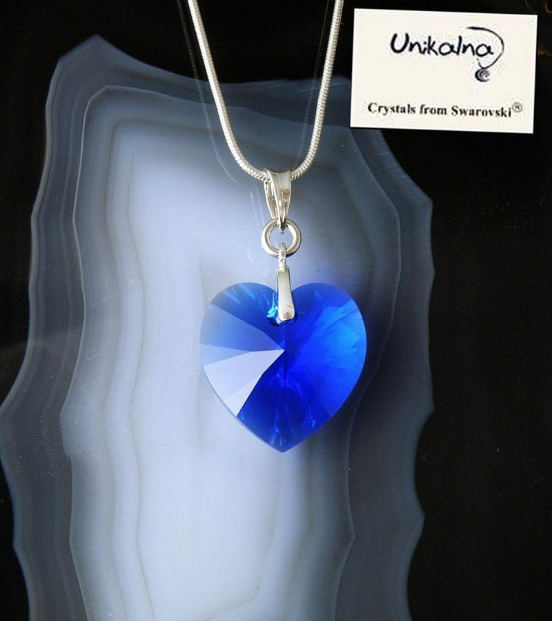 Кристал Swarovski Majestic Blue Heart 18