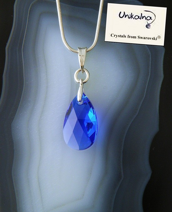Кристал Swarovski Majestic Blue Pear 16