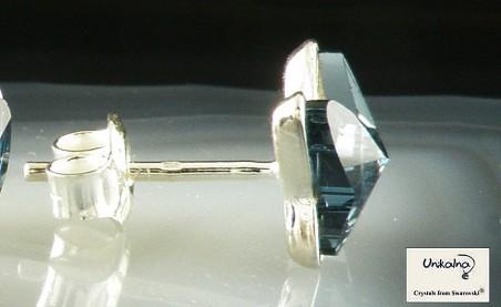 Обеци Denim Blue Crystal Butterfly 8mm