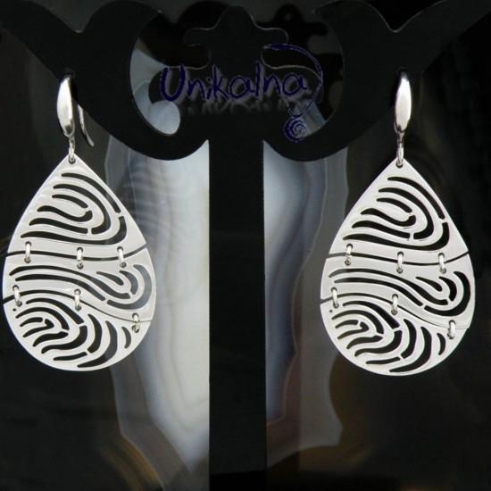 RINGS PLATE - сребърни обици