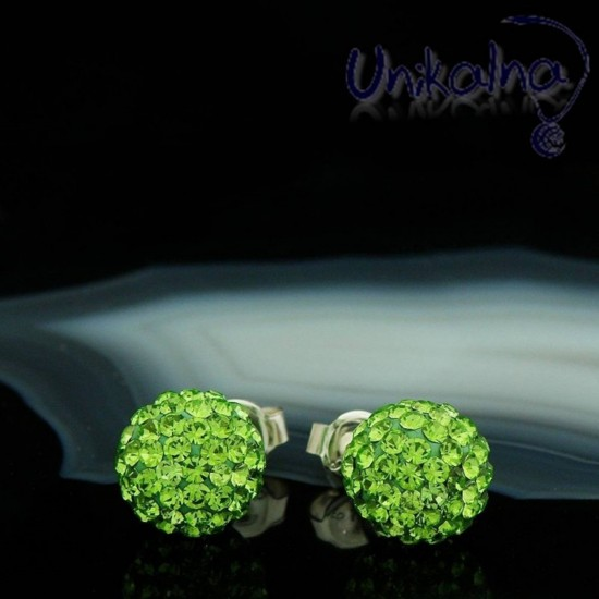 PERIDOT DISCO BALL - 10mm -...