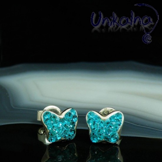 BLUE BUTTERFLY STUD...