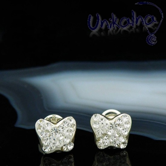 CRYSTAL BUTTERFLY STUD...