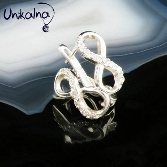 Infinity Grace-сребърни обеци