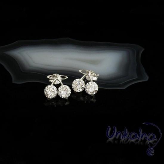 Сребърни обеци - Crystal...