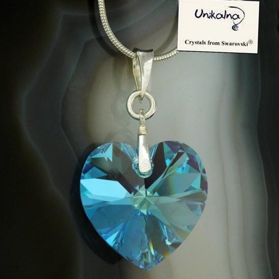 Кристал Swarovski Aqua Heart