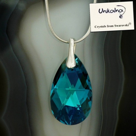 Кристал Swarovski Blue Pear