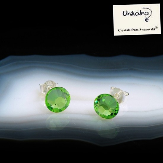 PERIDOT EARRINGS - 7mm -...