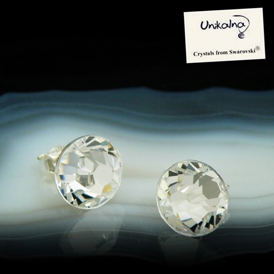 CRYSTAL EARRINGS - 11mm -...