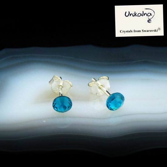 BLUE EARRINGS - 4,8mm -...