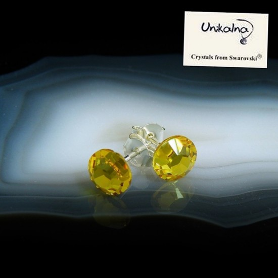 CITRINE EARRINGS - 7mm -...