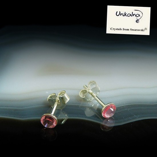 LIGHT ROSE EARRINGS - 4mm -...