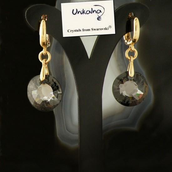 Златни обици с кристали...