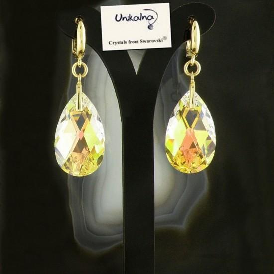 Златни обеци с кристал...