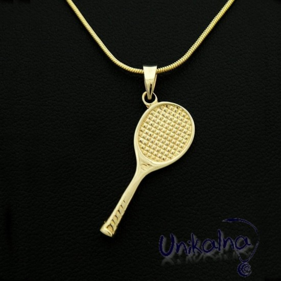 GOLDEN TENNIS RACKET -...