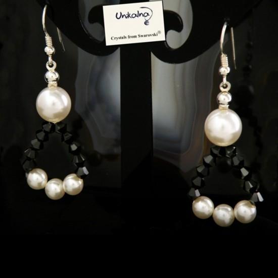 Обеци с перли и кристали...