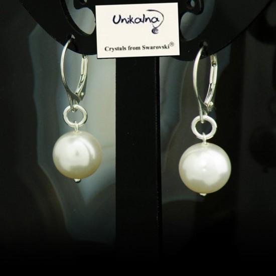 Сребърни обици с перли...