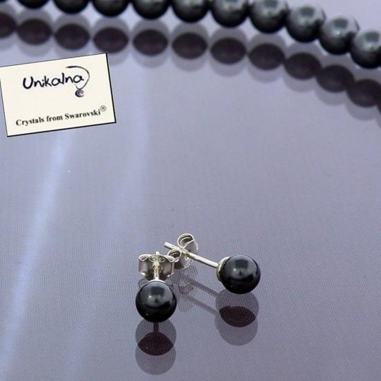 Mini Dark Pearls - сребърни...