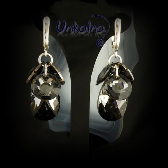 Обеци с кристали -  Glowing...