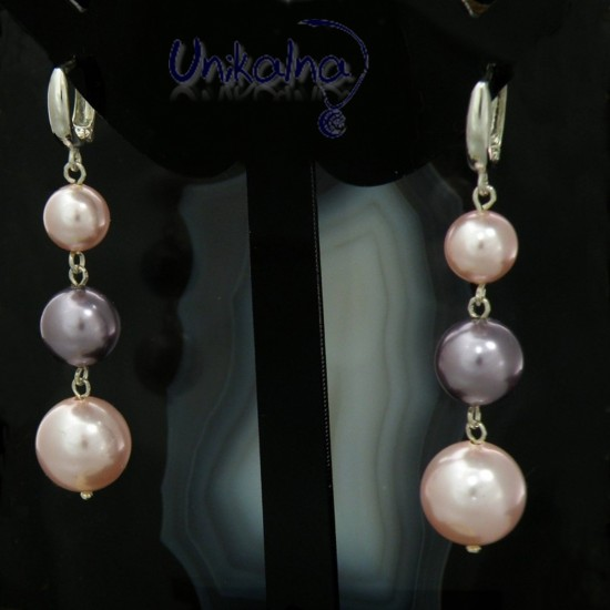 Обеци с перли - Tender rose