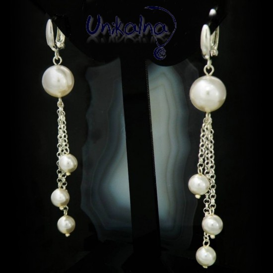 Сребърни обеци с перли...