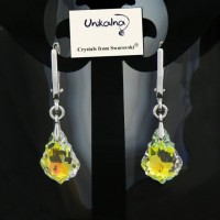 Обеци с камъни сваровски Swarovski - бижута с кристали сваровски